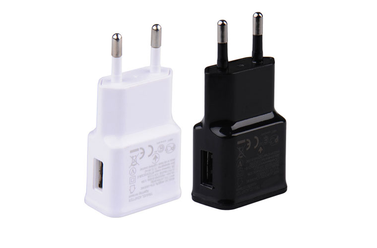 EU Travel Charger Adapter USB Wall Plug Socket Adapter For Samsung Universal Phone Charger EU Standard