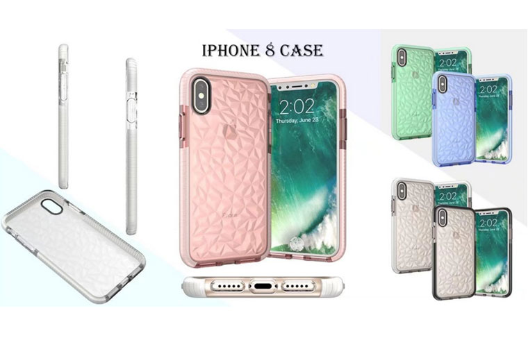 For iphoneX diamond pattern case